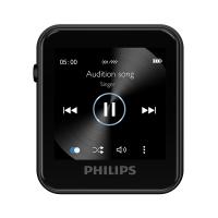 【支持礼品卡】Philips飞利浦MP3 SA1108 飞声音效8G MP3 专业发烧无损运动跑步小夹子MP3播放器