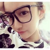 时尚平光眼镜有镜片男女款大脸潮复古时尚大方框装饰眼睛眼镜框架