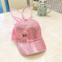 儿童帽子韩版女孩夏天鸭舌帽网眼遮阳棒球太阳帽公主潮 均码