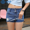 【11.11嗨购继续】2018新款女裤女装两件牛仔短裤裙淑女风时尚显瘦学生潮流贴图短裤