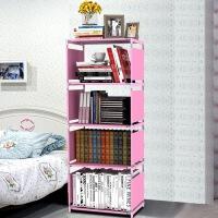 祥然 大容量多用加厚无纺布书架书柜 自由组合收纳简易书架