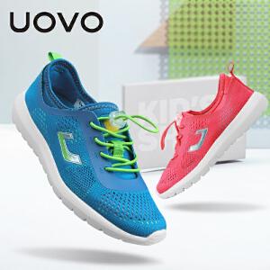 UOVO 儿童运动鞋新款男女童休闲鞋透气中大童春夏童鞋 布拉诺