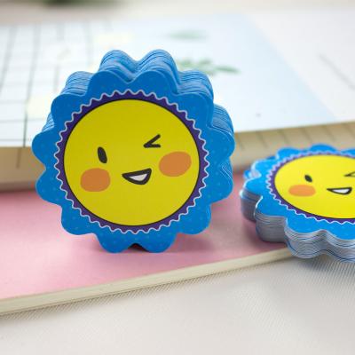 奖励卡片太阳花笑脸表情教师学生幼儿园儿童表扬鼓励积分卡200张