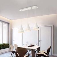 雷士照明 led餐厅餐吊灯具卧室三头吊线创意吧台现代浪漫玻璃吊灯