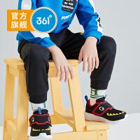 【折后叠券预估价:46】361度童鞋 男童休闲长裤小童2021年春季新品系带运动针织长裤