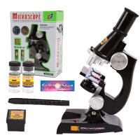 儿童科学探索早教益智玩具科教显微镜套装便捷学生科学实验
