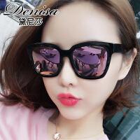 新款明星款偏光墨镜女潮个性圆脸太阳镜优雅近视眼镜长脸