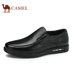 骆驼牌 男鞋 新品便捷套脚商务休闲男皮鞋缓震低帮男鞋