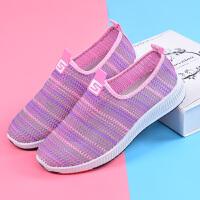 新款夏季老北京布鞋女士镂空鞋平底中老年防滑运动鞋妈妈休闲凉鞋