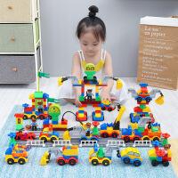 儿童城市警察积木玩具宝宝益智拼装汽车2女孩男孩子3-6周岁 生日圣诞节新年六一儿童节礼物