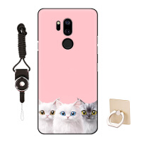 LG G7手机壳保护套卡通个性创意文艺可爱猫咪简约女款男
