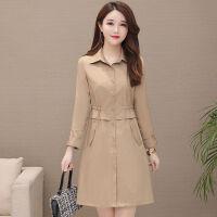 风衣女中长款2019春季韩版宽松修身型时尚气质休闲大码显瘦薄外套