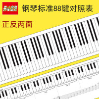 钢琴键盘练习纸质表五线谱挂图琴音对照五线谱学钢琴88键标准尺寸