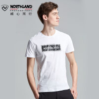 【顺丰包邮 乐享户外】诺诗兰户外夏季新款运动透气吸湿排汗舒适宽松短袖T恤GL085239