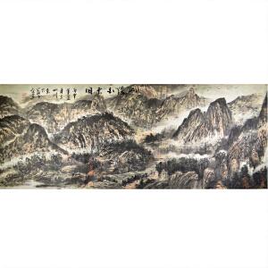 实力派画家 王山川 《山路百云间》175*68cm