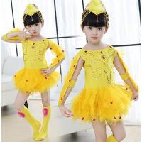 儿童动物服小鸡也疯狂舞蹈服 六一儿童节女童连衣裙表演服演出服 幼儿纱裙子