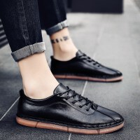 男士皮鞋男韩版商务正装休闲鞋男2019新款男鞋春季英伦鞋子男潮鞋