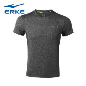 【2件8折-满199减30】鸿星尔克(ERKE)新品圆领短袖T恤透气吸汗轻便运动短T上衣