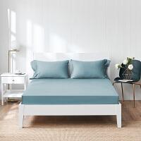 酒店床罩纯棉床笠式床单60支纯色全棉贡缎床套床垫罩