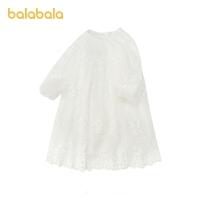 【3件4.5折:126】巴拉巴拉女童连衣裙儿童公主裙春装2021新款童装大童清新甜美蕾丝
