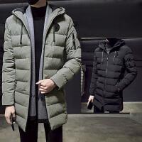 男士韩版修身中长款外套冬季新款棉衣冬装棉袄子潮DJ956TP155