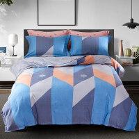 磨毛四件套全棉纯棉床单被套秋冬双面加厚床上用品北欧风
