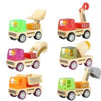 木质DIY拼插拼装积木车 幼儿童益智宝宝小孩玩具2-3-6周岁