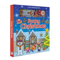 【圣诞】Fuzzy Christmas 圣诞主题磁贴游戏故事书 益智有趣 英文原版