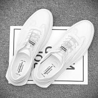 2019新款夏季英伦文艺小白鞋男鞋子韩版潮流英伦百搭白鞋休闲板鞋 556 白色 38 男款