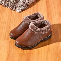 2019新款韩版厚底女式雪地靴妈妈保暖平底棉鞋短筒防水防滑月子鞋