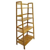 颐海书架置物架简易小型竹制收纳架层架书柜楠竹