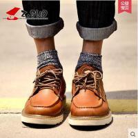 Z.Suo/走索男鞋工装鞋男士休闲鞋潮流低帮鞋男春季英伦潮鞋系带ZS16208