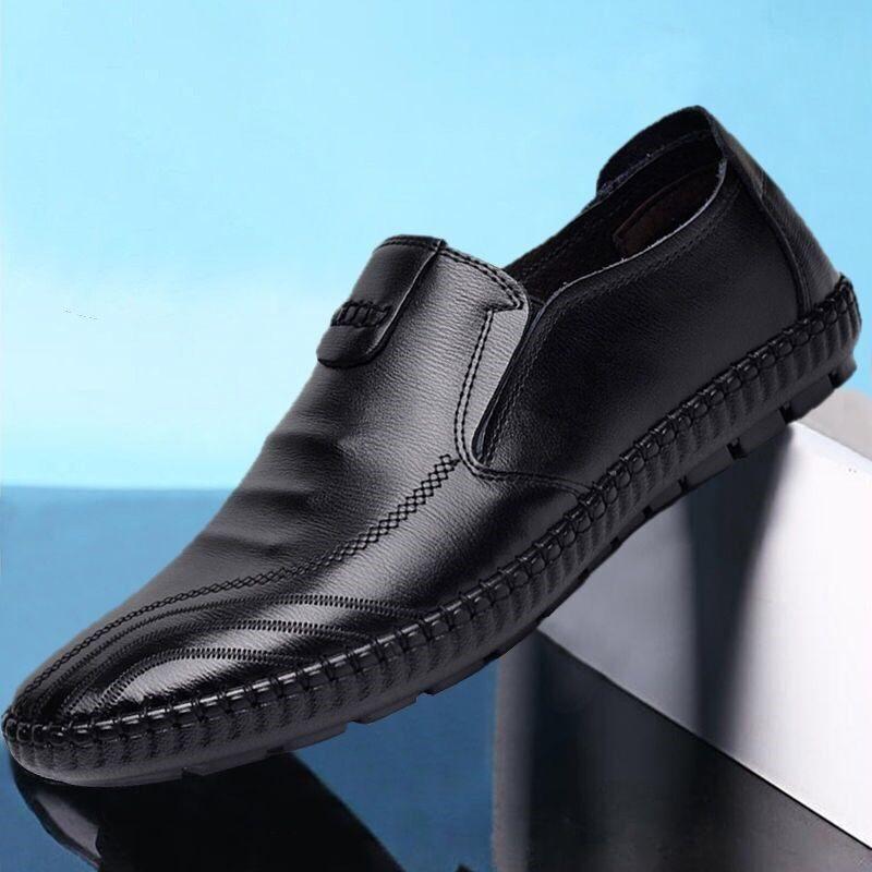 夏季男鞋休闲鞋韩版豆豆鞋子男士皮鞋新款百搭潮流一脚蹬懒人鞋男