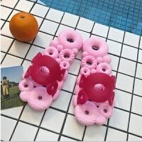 浴室拖鞋女夏季居家室内洗澡速干软底凉拖甜甜圈镂空漏水拖鞋