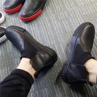 2019新款�n版潮流一�_蹬高�桶逍��r尚舒�m百搭英��休�e套�_男皮鞋
