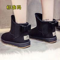 冬季新款马丁靴女加绒保暖短筒女靴子韩版休闲雪地靴学生百搭棉鞋