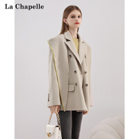 拉夏���可�卸兔子�I�B帽�p面羊毛羊�q大衣女2020年冬季新款外套