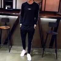 秋冬韩版青少年男装卫衣长裤长袖休闲男士修身两件套秋季2017套装
