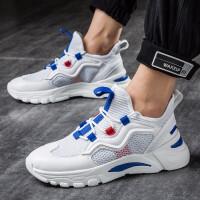 网状男鞋板鞋男士夏季2019新款春季白色休闲鞋子运动鞋透气小白鞋