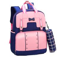 儿童书包 小学生1-3-6年级学院风PU皮耐磨英伦风女幼儿园双肩背包