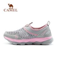 camel骆驼户外徒步鞋 男女减震防滑透气网鞋情侣款徒步鞋