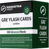 华研原版 曼哈顿GRE高级词汇卡片 500 Advanced Words 英文原版英语单词书 正版进口书籍 英文版