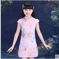 儿童复古装旗袍女童民族风唐装公主裙 小孩子女孩中国风童装 儿童裙子装支持礼品卡支付