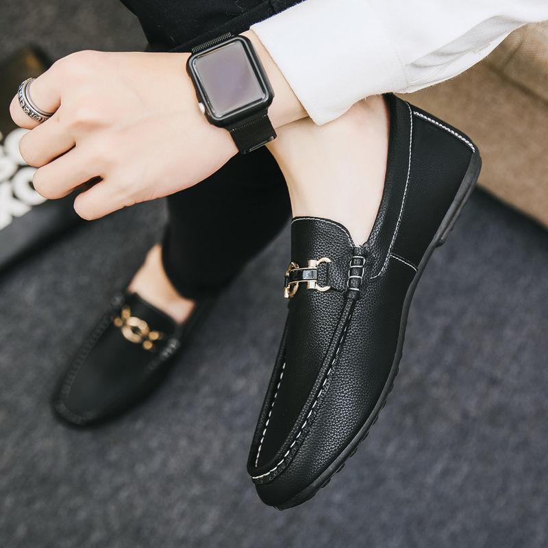 豆豆鞋男韩版男鞋休闲帆布鞋一脚蹬懒人鞋男夏男士社会鞋学生鞋子