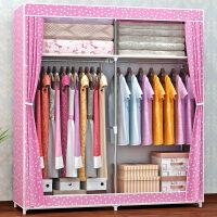 甜梦莱索尔诺加粗16MM钢管 密封防尘布衣柜 钢管加固加厚简易衣柜