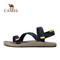 camel 骆驼户外情侣时尚沙滩鞋 春夏男女款织带缓震凉鞋