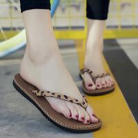 人字拖鞋女夏季平底夹脚情侣凉拖鞋韩版时尚男女浴室沙滩鞋
