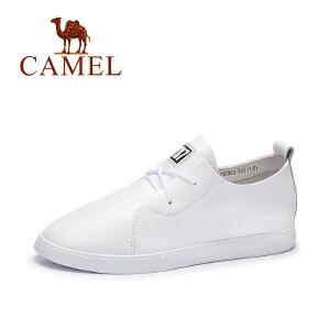 Camel/骆驼女鞋 春季新款 简约舒适单鞋内增高春鞋小白鞋