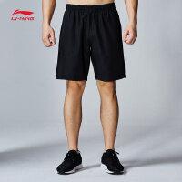 李宁运动短裤男士2017新款足球系列夏季梭织运动裤AKSM215