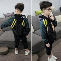 男童运动夹克衫春秋装儿童中大童外套男孩上衣棒球服